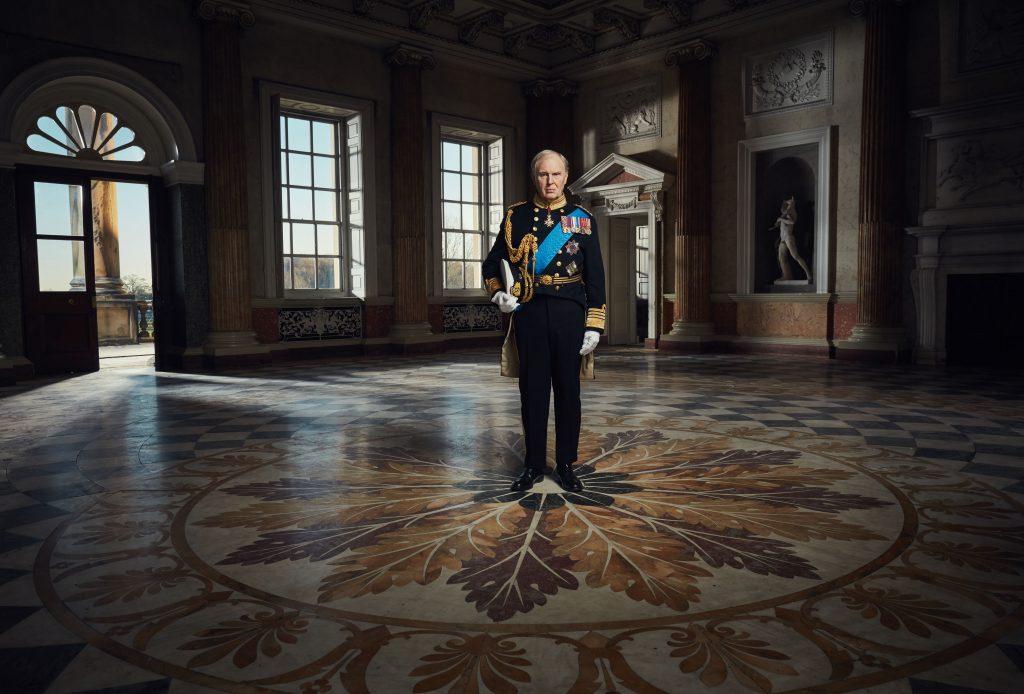 Programme Name: King Charles III - Picture Shows: King Charles III (TIM PIGOTT-SMITH) - (C) Drama Republic - Photographer: Robert Viglasky