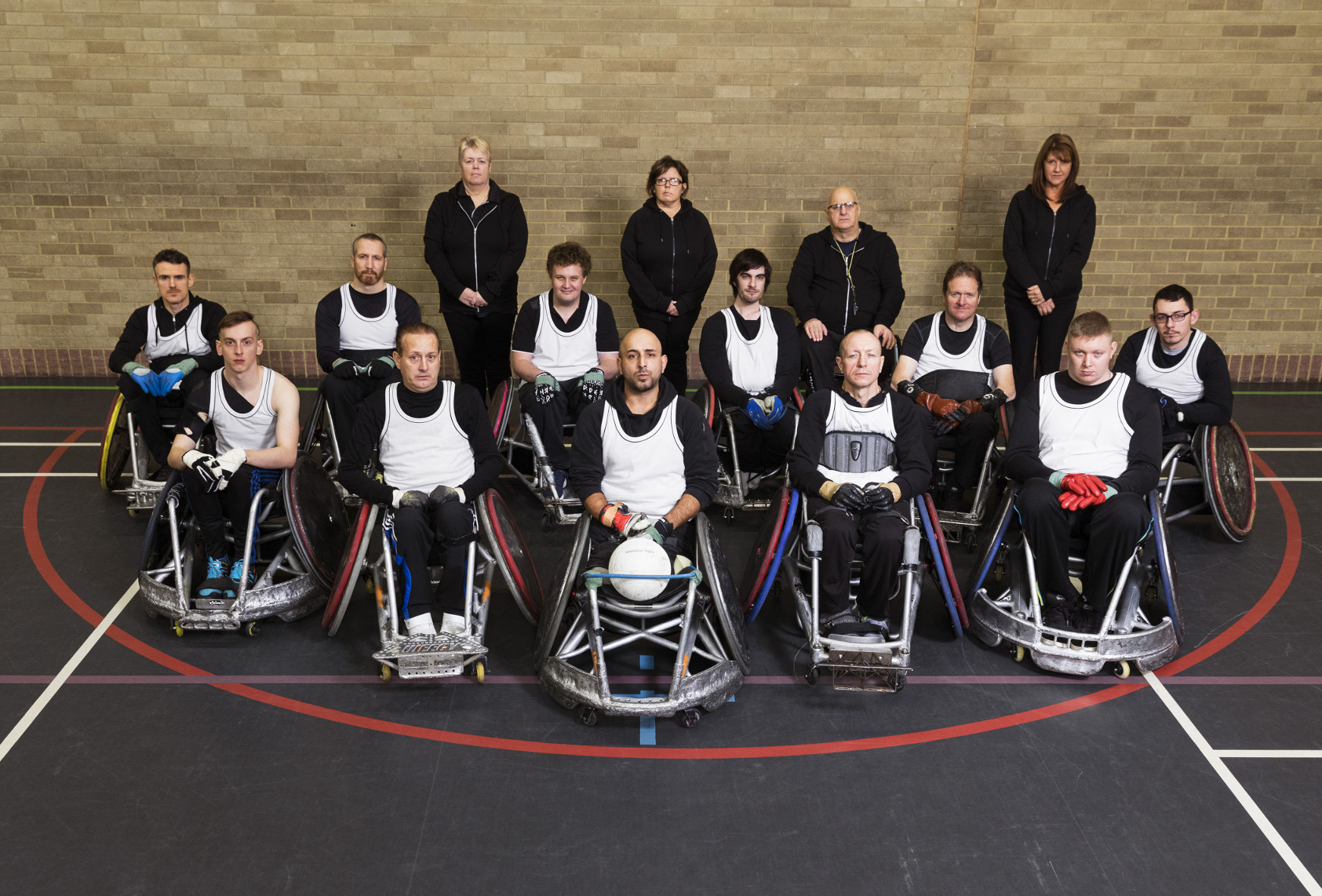 BBC One, Oneness, Wheelchair Rugby, Llantrisant, Photographer: Martin Parr