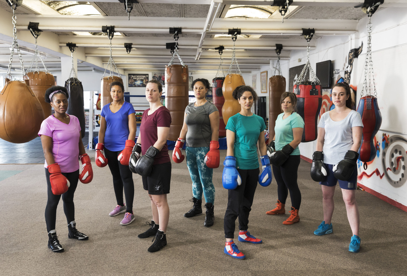 BBC Oneness, Womens Boxing, Photographer: Martin Parr