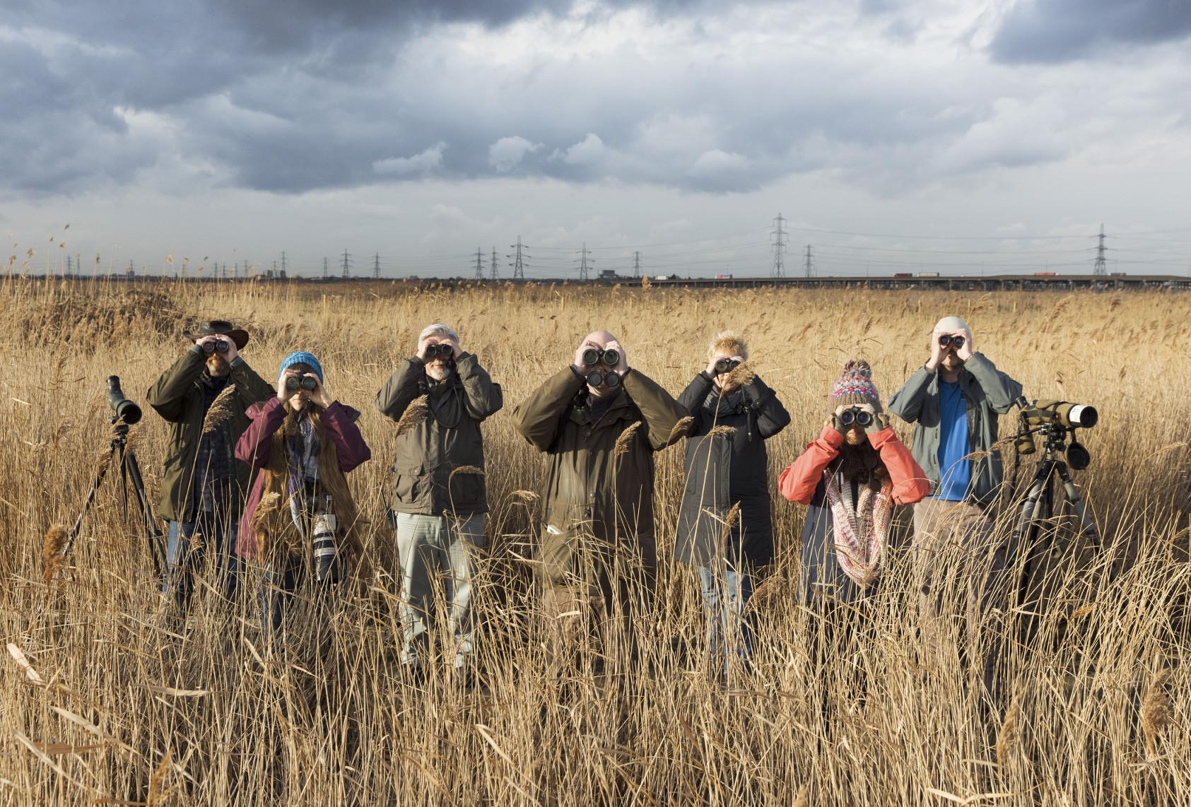 BBC Oneness, Bird Watchers, Rainham, Photographer: Martin Parr