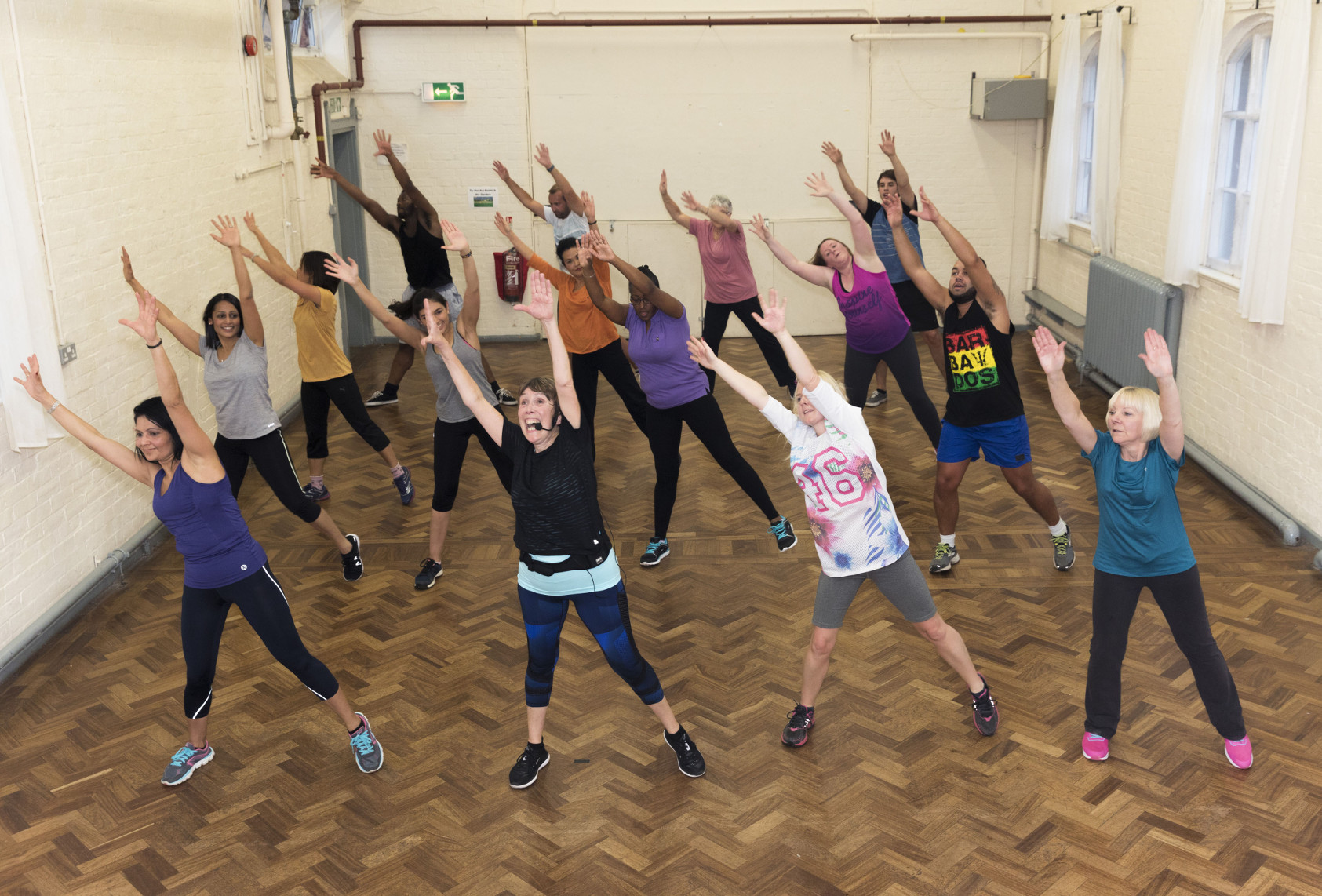BBC Oneness, Exercise Class, Avonmouth, Photographer: Martin Parr